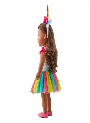 "My Life As A Unicorn Trainer Doll 18/"" Soft Torso Brunette Hair NEW"